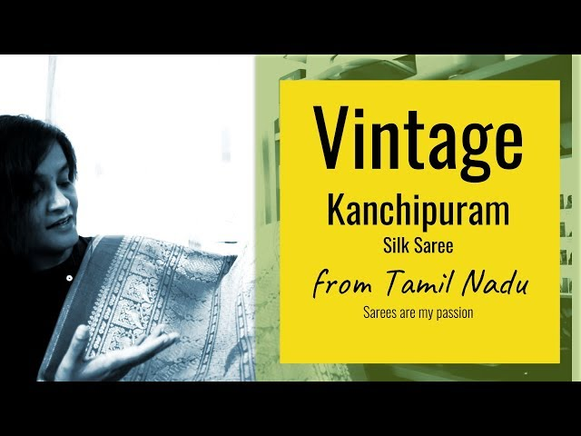 29 Kanchipuram Vintage Stripes Silk Saree from Tamil Nadu || Sarees are my passion