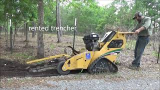 water line installation part 1 trenching and laying pipe