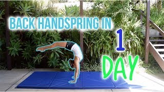 How To Do a Back Handspring in 1 DAY!