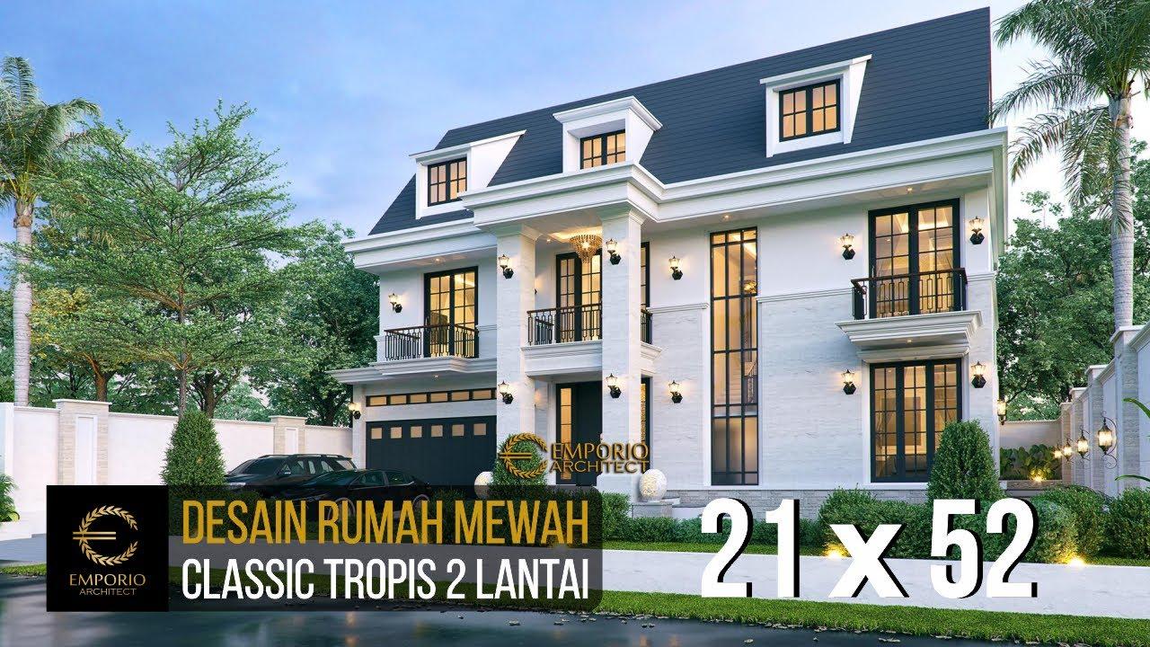 Video 3D Desain Rumah Classic 2 Lantai Bapak Made di Lampung