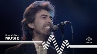 George Harrison &  Ringo Starr - While My Guitar Gently Weeps (The Prince's Trust Rock Gala 1987)
