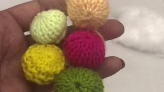 Knitting button design
