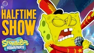 Super Bowl SpongeBob SquarePants Halftime 🏈Show Moment | Nick