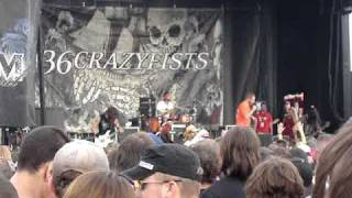36 Crazy Fists I'll Go Until My Heart Stops Mayhem tour 2008