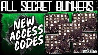Warzone ALL SECRET BUNKER ACCESS CODES NEW HIDDEN DOOR | ALL 6 Bunker Locations