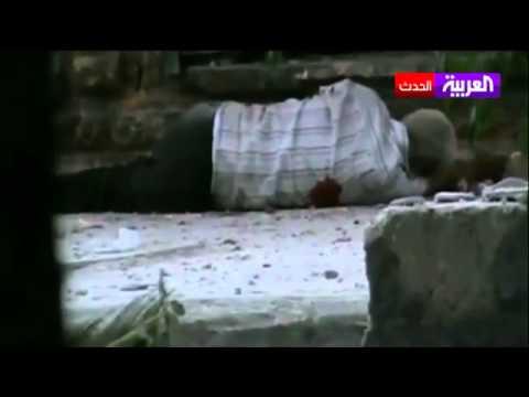 أحد قناصة قوات النظام يطلق النار على رجل مسن + 18