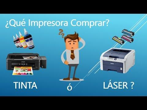 ¿Qué Impresora Comprar? láser o tinta