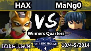 The Big House 4 - Hax (Fox) Vs. Mango (Captain Falcon, Marth) - Winners Quarters - SSBM