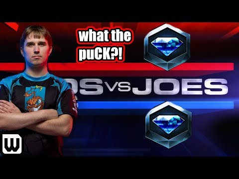 Starcraft 2 PROS vs JOES | One puCK vs Two Diamond Players!