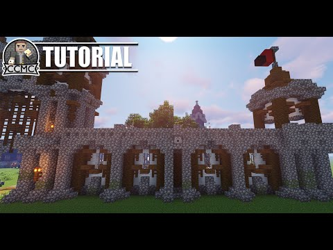 Meval rustic city wall design + schematic Minecraft Project on