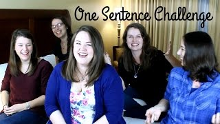 One Sentence Challenge ft. WhyMermaids, BookChats, Kayla Rayne, & Little Word Weaver