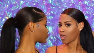 BEST Easy Protective Style Sleek Ponytail W/ Extensions (No Heat)