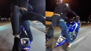 Безумные трюки байкеров
