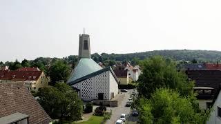 Paul Gerhard Kirche Hildesheim Drohnenflug | Luftaufnahme | mrss design