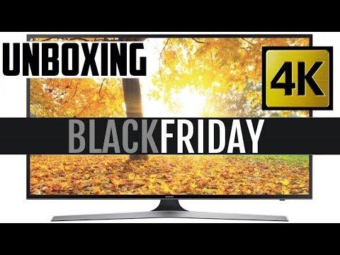 Comprei uma SmartTV 4K Samsung na Black Friday - Unboxing MU6100 43