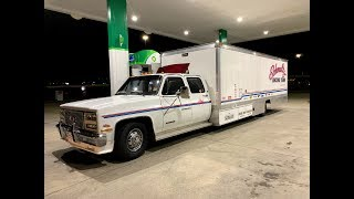 Finnegan's Garage Ep.59: I Bought The World's Longest Squarebody Ramp Truck and it Tried to Kill Me!
