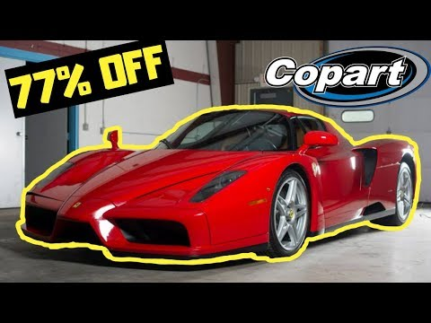 Craziest Salvage Auction Finds Ever! Ferrari Goonzquad DDE