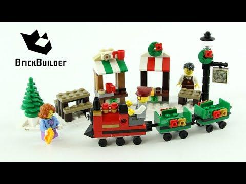 Vidéo LEGO Saisonnier 40262 : La promenade en train de Noël LEGO