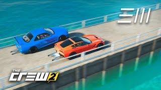 The Crew 2 - GTR vs Corvette | Fastest to Lake Tahoe in 2000+HP Drag Cars?