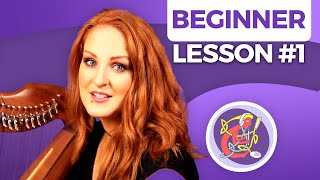Irish Harp Lesson 1 - [The Basics] Start Here