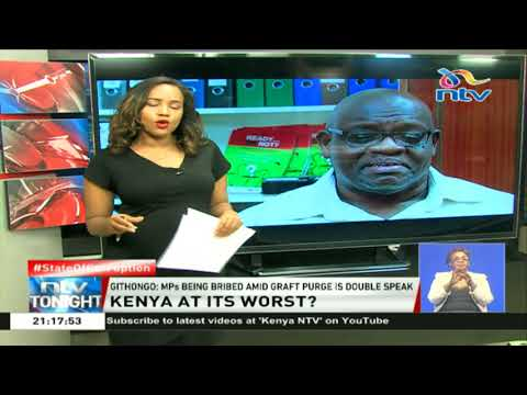 Githongo: MPs being bribed amid graft purge is double speak