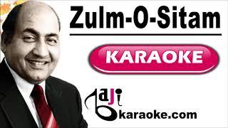 Zulm O Sitam Ko Bhi Hum - Video Karaoke - Mohammad Rafi