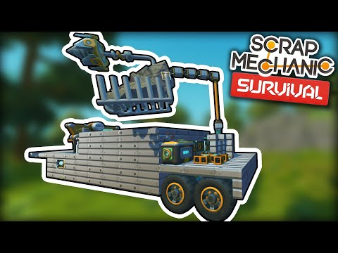 Upgrading the Rock Crusher with a Multi Function Robot Arm! (Scrap Mechanic Survival Ep.27)