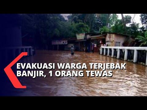 tim gabungan evakuasi warga yang terjebak banjir orang meniggal dunia