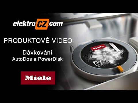 Dávkování AutoDos a PowerDisk u myček nádobí Miele