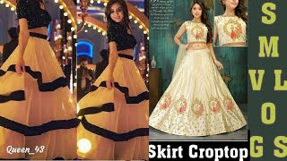 Singel Piece Available@ Wholesale Rate | Crop Top N Long Skirts Combo | Latest Low Range Lahenga