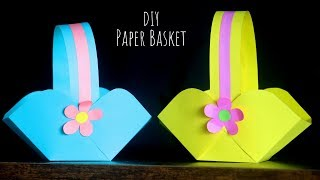 DIY Paper Basket Easy | Easter Basket Ideas | Paper Craft Ideas For Kids