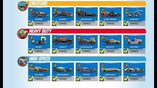 HOT WHEELS RACE OFF All Supercharged Cars Pt 2 Creature / Heavy Duty / High Speed Android / iOS