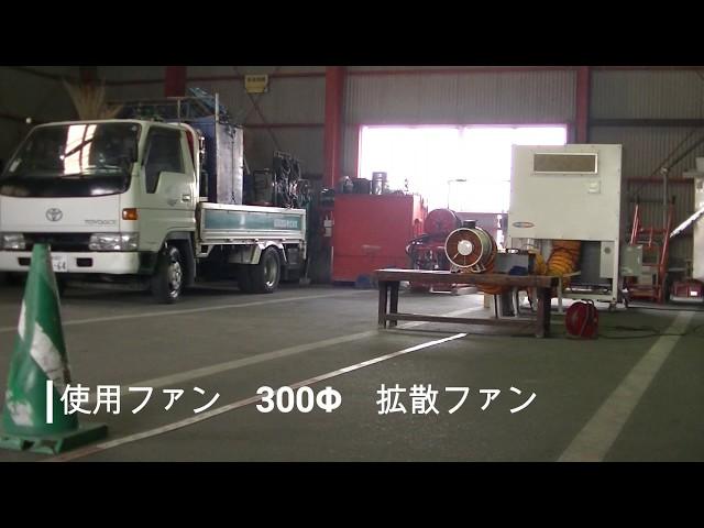 型番kdk‐PACZ11200H 4馬力、送風拡散ファーン300Φ風速実験!