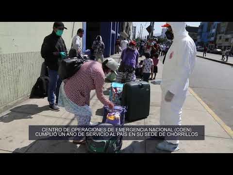 Centro de Operaciones de Emergencia Nacional (COEN) cumplió un año de servicio al país en su sede de Chorrillos