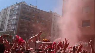 We've Conquered All Of Europe! Allez Allez Allez Jamie Webster At Liverpool Fan Park! Madrid '19