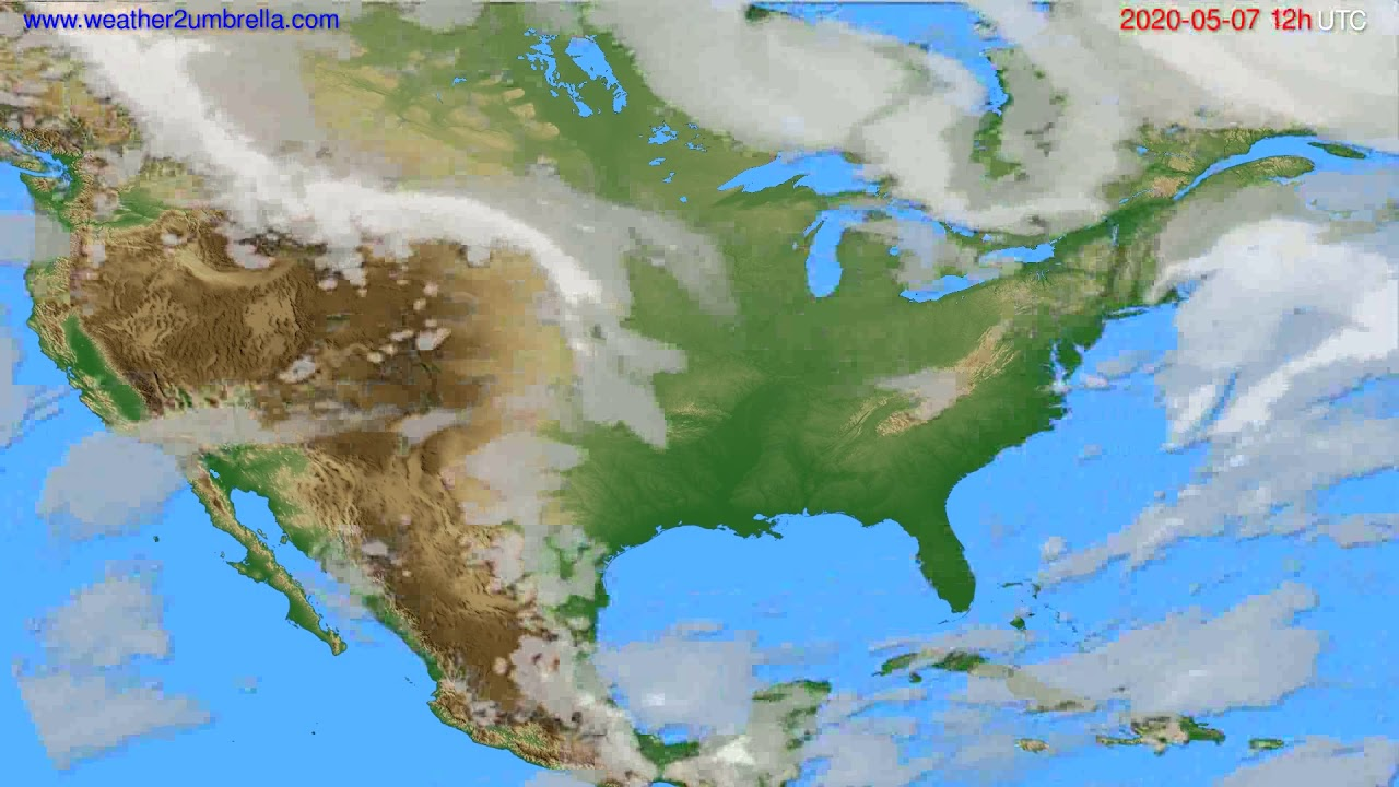 Cloud forecast USA & Canada // modelrun: 00h UTC 2020-05-07