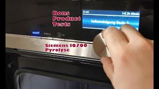 Siemens Backofen Selbstreinigung Pyrolyse iQ700 HB678 HS658   Einfach genial und sauber in 2 Stunden