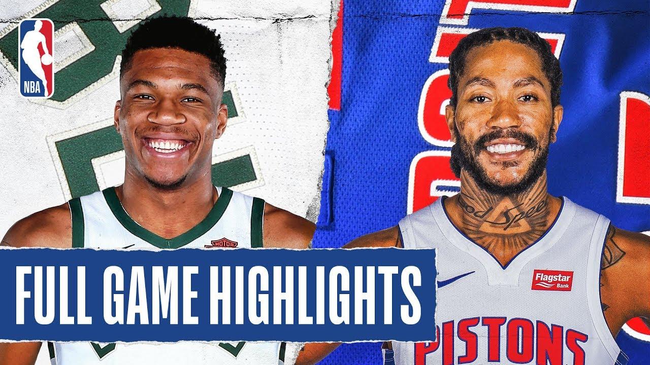Milwaukee Bucks vs Detroit Pistons [Thu, Feb 20, 2020]