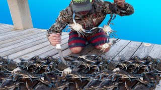 **** BLUE CRAB **** CATCH CLEAN & COOK with CRAZY BONUS FOOTAGE