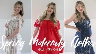 Spring Maternity Haul + Try-On | Asos And Old Navy, Non Maternity Dresses For Pregnancy