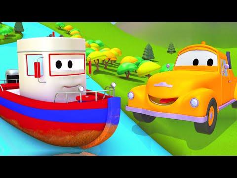 Tom la Grúa y el Barco en Auto City | Dibujos animados para niños