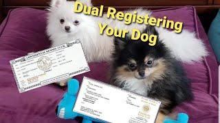 Dog Registration Dual Registration Process for AKC/CKC