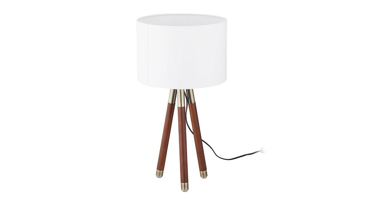 Video von: Nachttischlampe Holz weiß