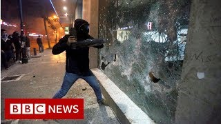 Lebanon Protesters Hit Banks In Week Of Wrath - BBC News