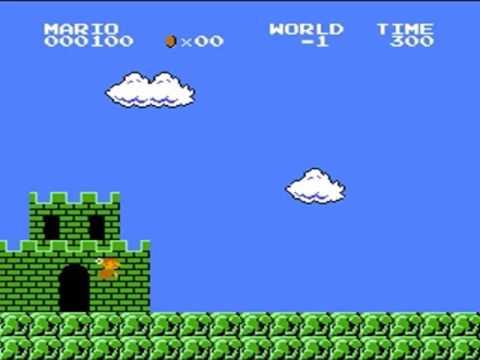 Super Mario Bros. - Low Score Run (200 Points) (видео)