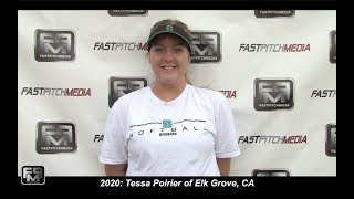 2020 Tessa Poirier Pitcher and First Base Softball Skills Video
