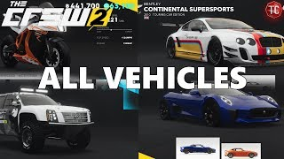 The Crew 2: FULL CAR LIST (All Cars, Bikes, Planes, and Boats) - dooclip.me