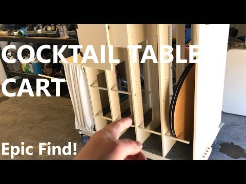 Cocktail Table Transport Cart - Epic Find - Keeping Busy in Off Season -