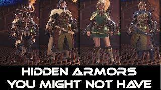 Monster Hunter world: Hidden Armors You Might Not Have (Secret)