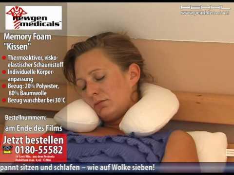 Newgen Medicals Wellnes-Beinkissen aus thermoaktivem Memory-Foam